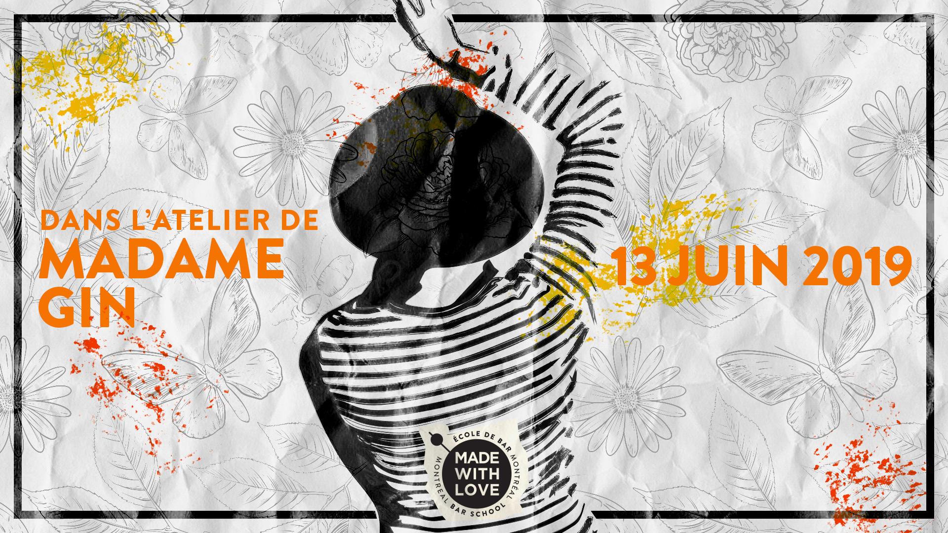 Nouvelle date – Dans l'Atelier de Madame Gin – 13 juin