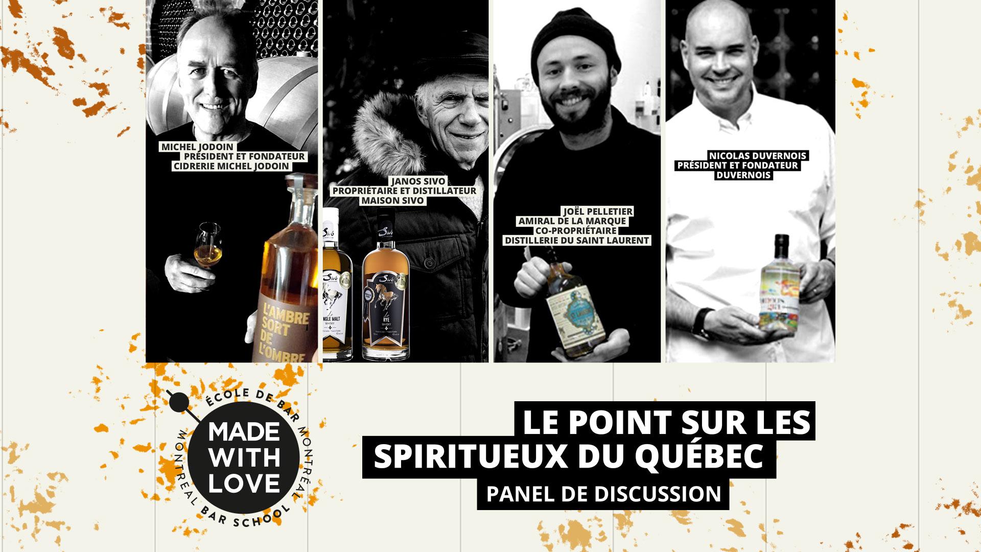 Le point sur les Spiritueux du Québec – Panel de discussion